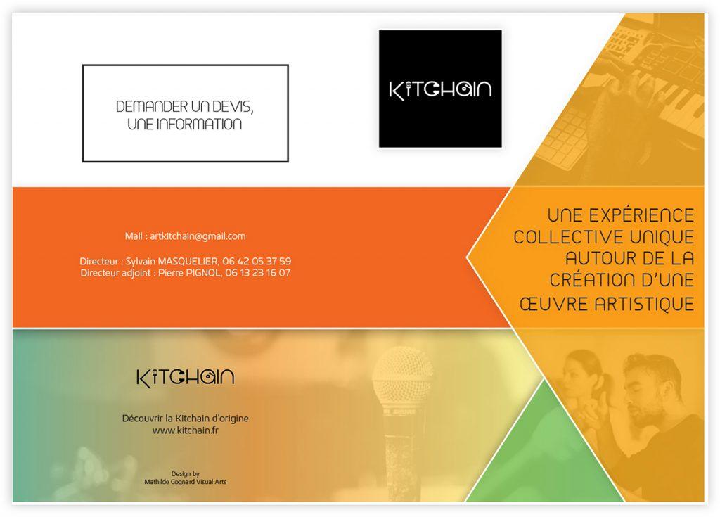 Mise en page de dépliant pour la Kitchain : couverture du document.