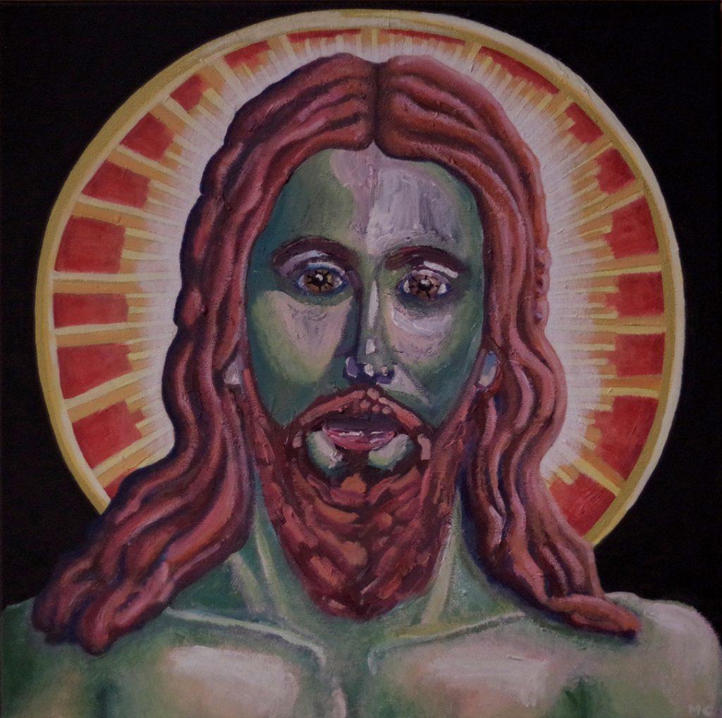 Jésus Christ 50 x 50 cm, par mathilde cognard, janvier 2019,, Lille, France