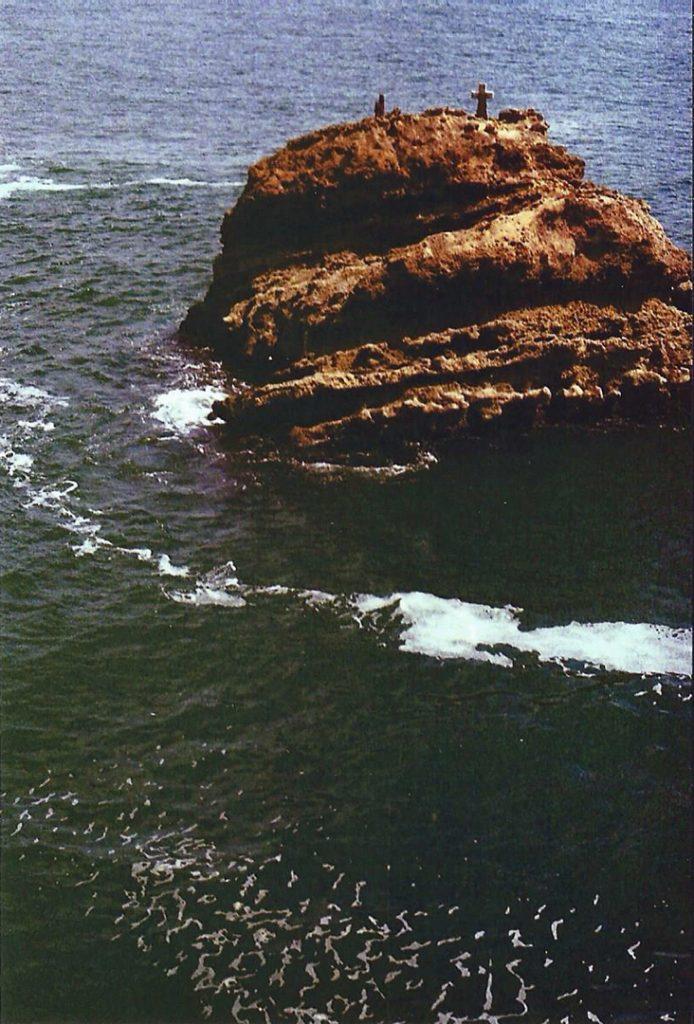 Photographie argentique, la croix de l'océan, mai 2016, Biarritz, France.