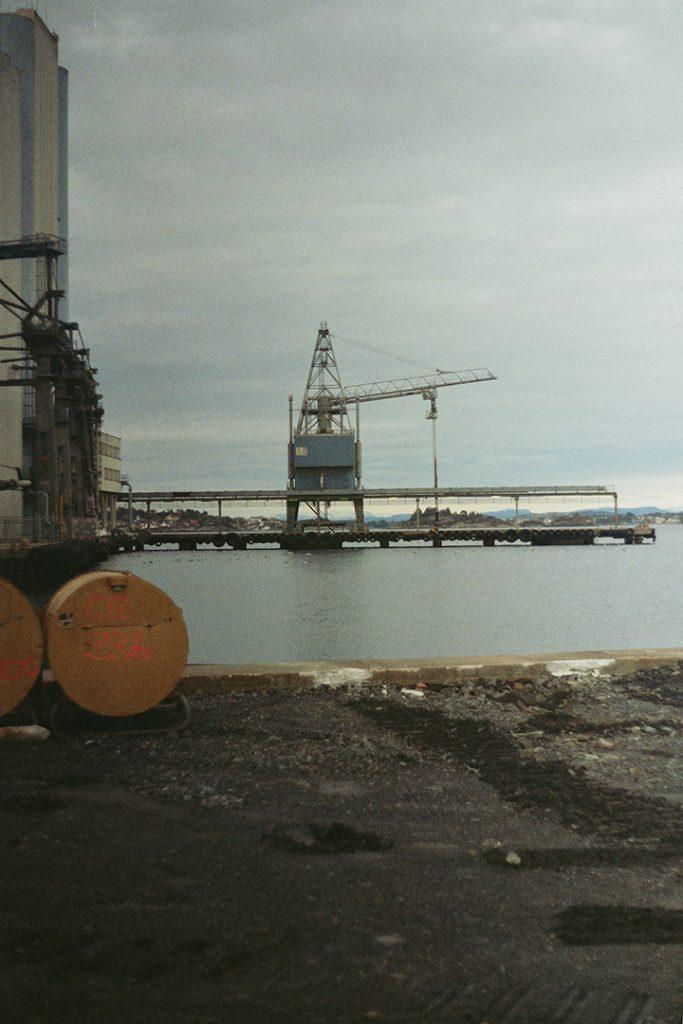 Photographie argentique, paysage industriel, février 2018, Stavanger, Norvège.