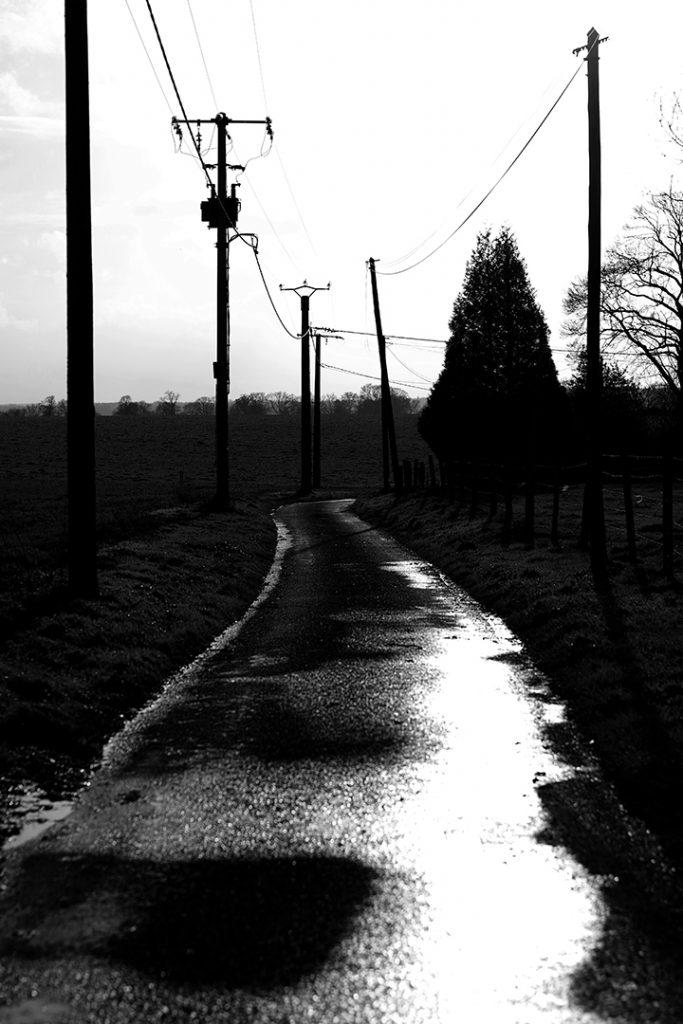 Photographie numérique, paysage de normandie, la pluie, décembre 2019, Normandie, France.