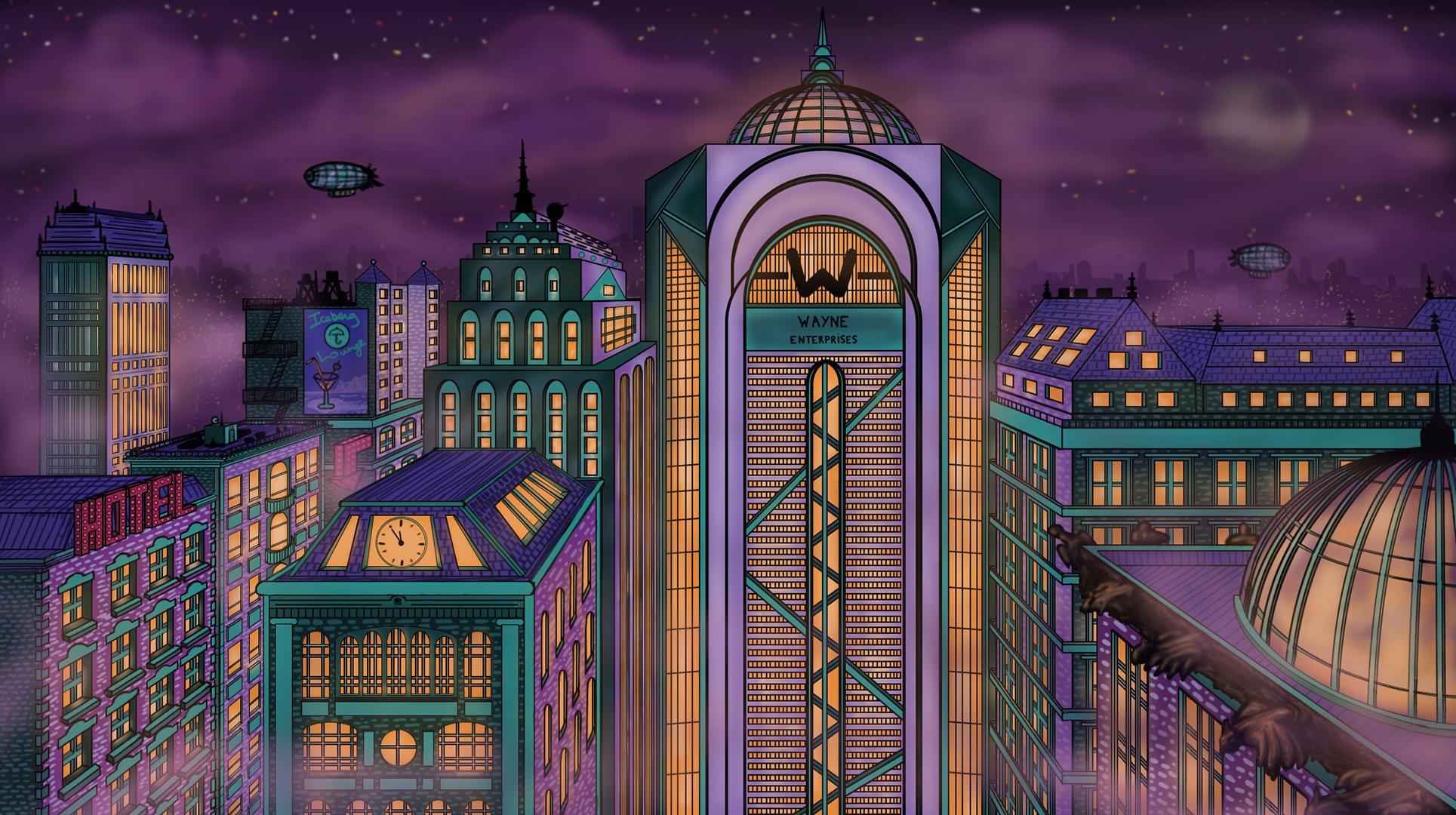 Gotham city, travail collaboratif avec Quentin Chappe - The Flux Studio