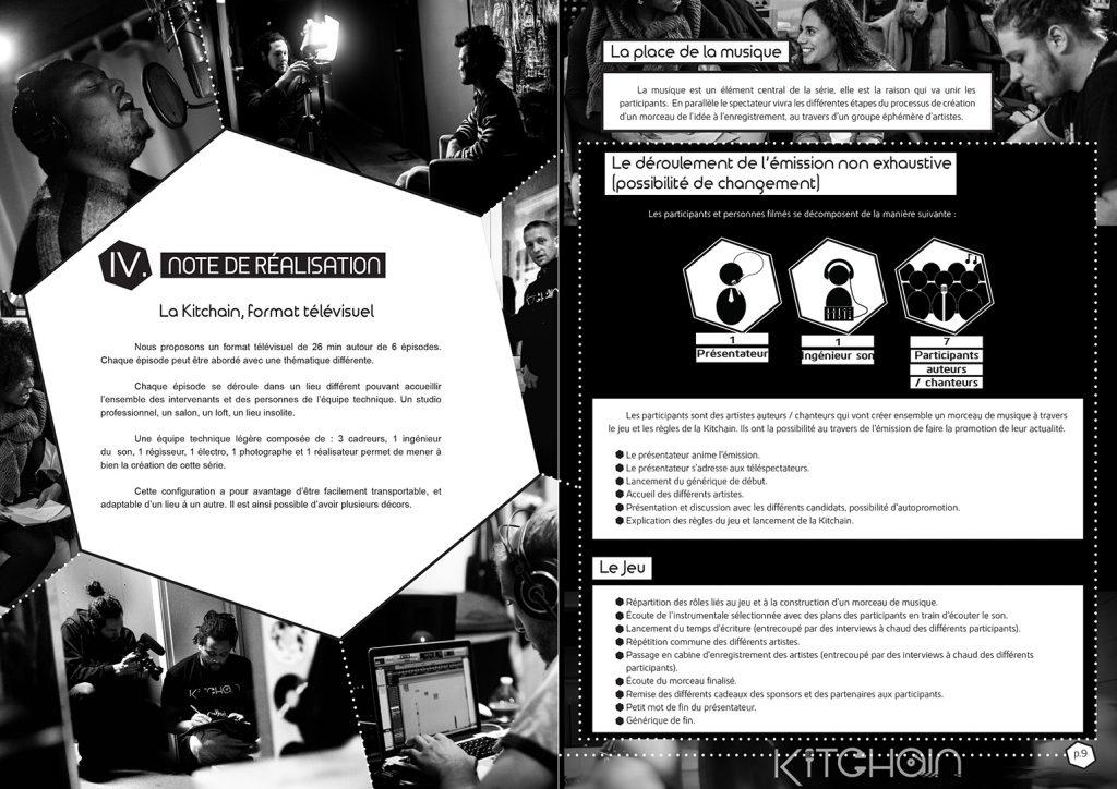 Mise en page de dossier pour la Kitchain : intérieur du document